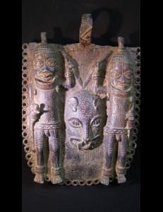 Plaque Ifé en bronze Nigéria