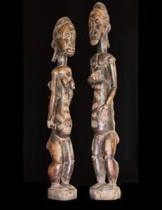 Statues Couple Baoulé - Cote d'Ivoire