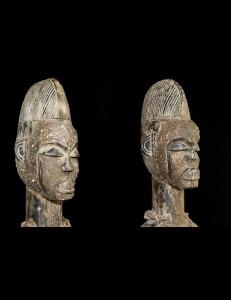 Statue couple Igbo Nigéria