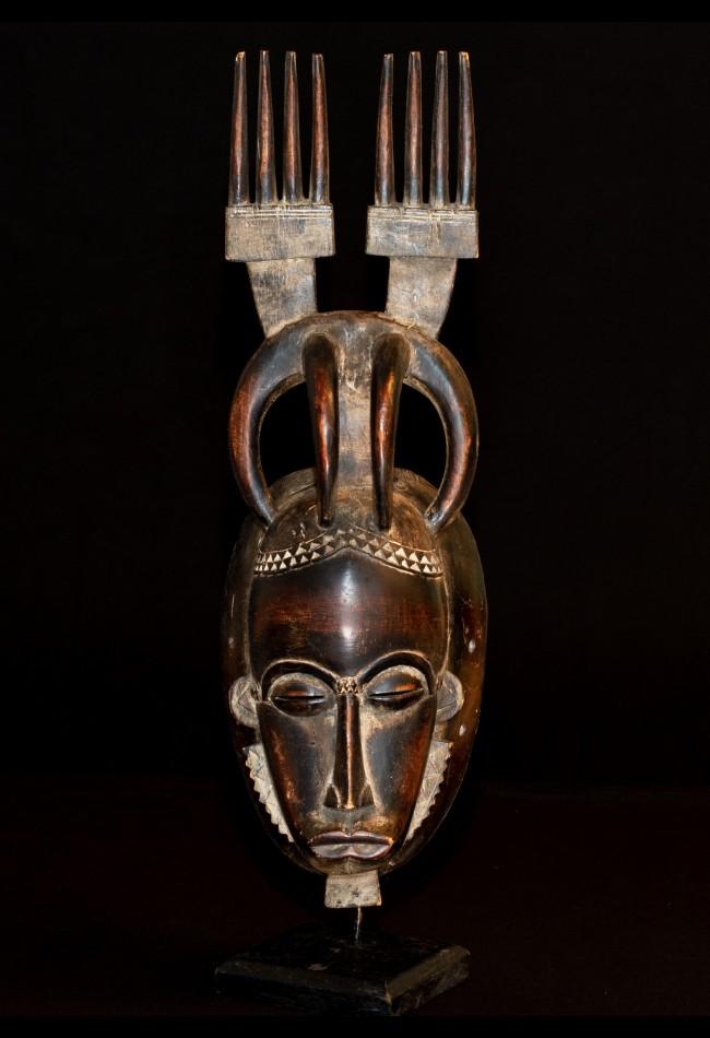 Masque Baoulé aux 2 peignes Côte d'Ivoire