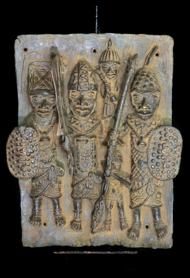 Plaque Ifé en bronze Yoruba Benin