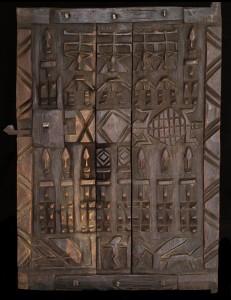 Porte de grenier à mil Dogon Mali