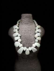 Collier africain en Serpentine