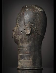 Tete en bronze de dignitaire Bini Edo Ifé Nigeria