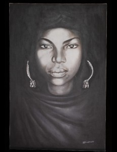 portrait de la femme noire de IBOU DIAGNE