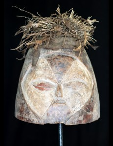 Masque Africain heaume Janiforme Fang Gabon