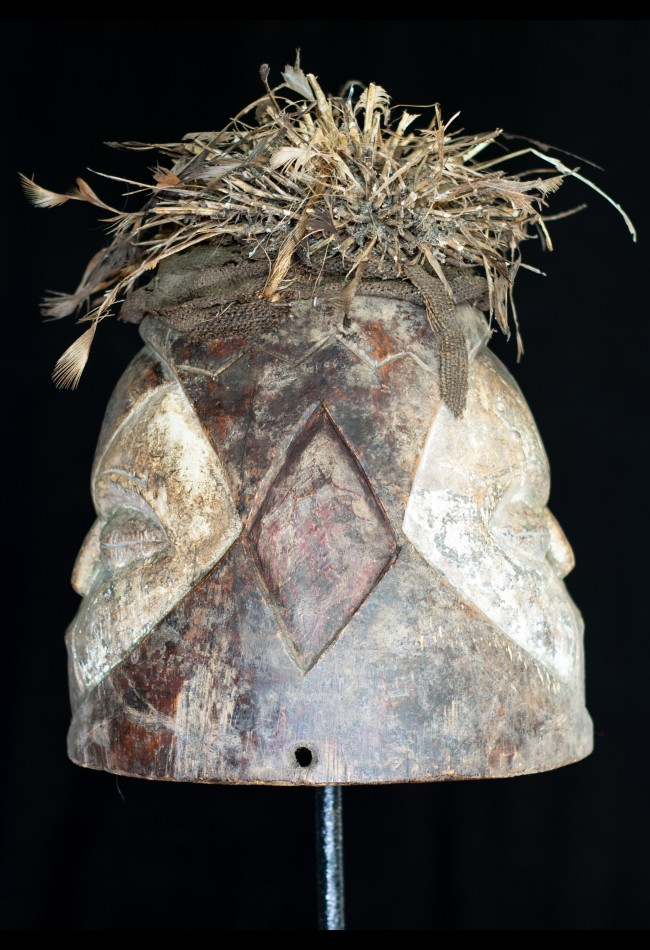 Masque Africain heaume janiforme GABON