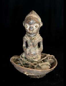Figure gardien de reliquaire Fang Gabon