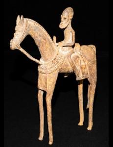 Cavalier bronze Dogon Mali