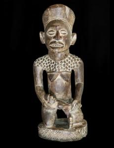 Statuette africaine maternité Mangbetu