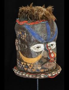 Ancien masque casque africain  Kuba Moshambwooy