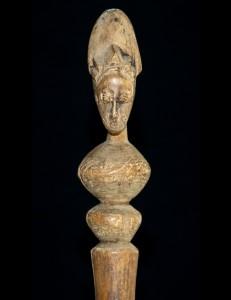 Canne de dignitaire Janus Baoulé Cote d'Ivoire