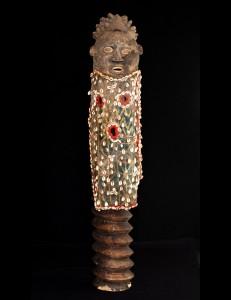Rare masque en argile Bamoun Cameroun