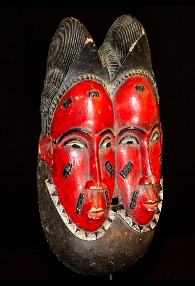 Masque jumeaux Nda Baoulé Cote d'Ivoire
