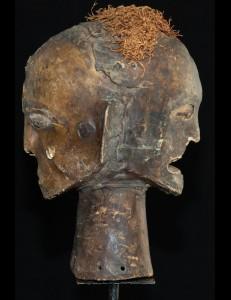 Masque cimier janus Ekoï Nigéria