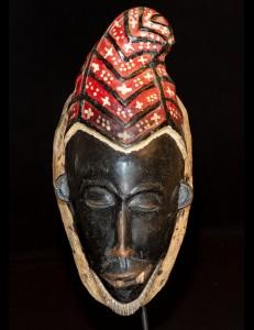 Masque Gouro Zamblé multicolore Cote d'Ivoire