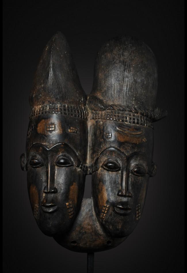 Masque Baoulé Nda Biface Côte d'Ivoire