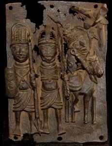 Plaque bronze Palais de l'Oba Ifé Nigéria