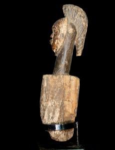 Figure poteau de reliquaire Fang Gabon