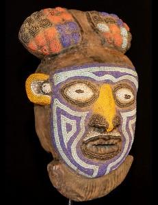 Masque perlé Bamiliké Cameroun