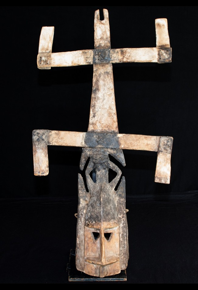 Ancien masque Kanaga Dogon Mali