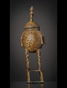 Pot a onguents en bronze Dogon-Mali